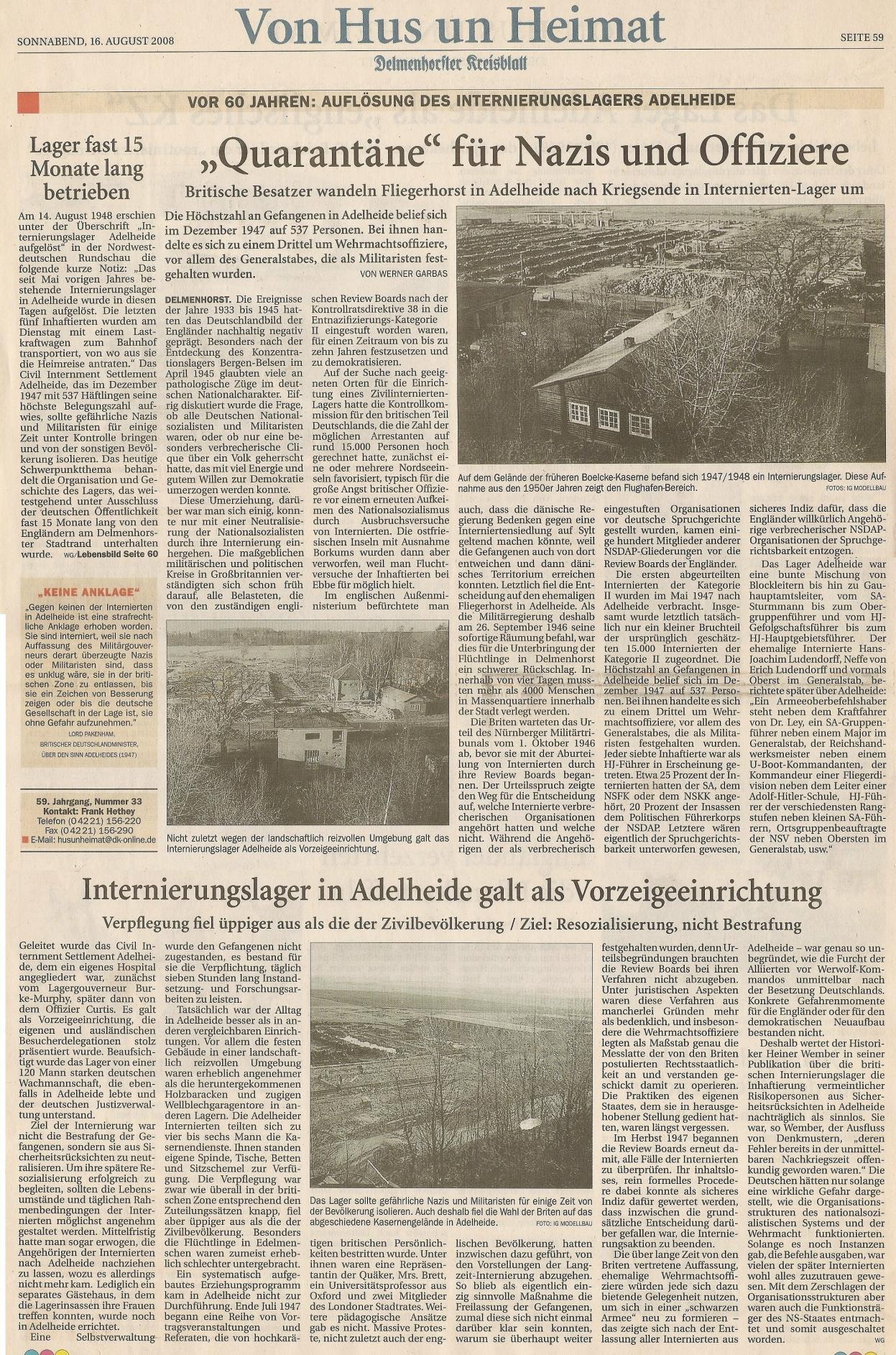 kriegsende in oldenburg